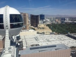 Looking south towards The Wynn. (Spence/98.5 KLUC)